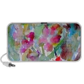 CricketDiane Flower Garden Watercolor Abstract Laptop Speakers