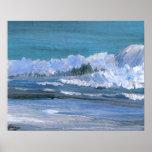 CricketDiane Ocean Poster - Blue Amber Sea