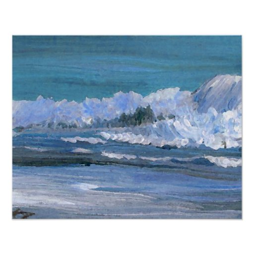 CricketDiane Ocean Poster - Blue Amber Sea