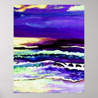 CricketDiane Ocean Poster - Cricket's Night Ocean