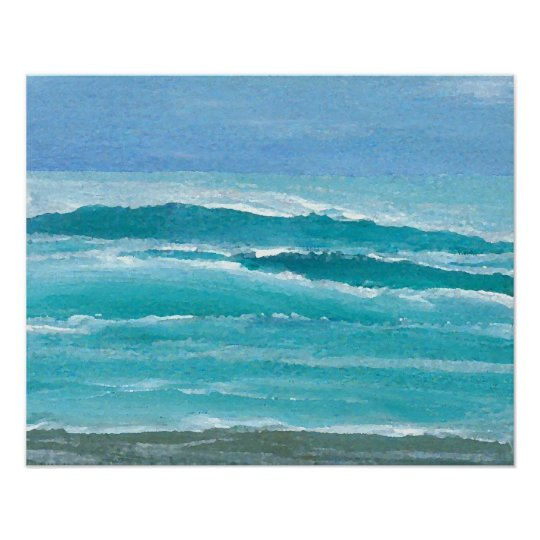CricketDiane Ocean Poster - Gentle Surf