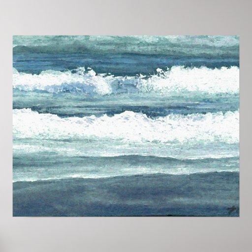 CricketDiane Ocean Poster - Wading Waves