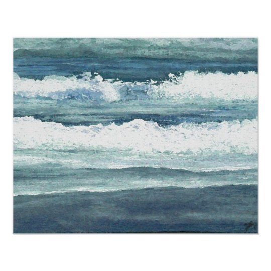 CricketDiane Ocean Poster - Wading Waves