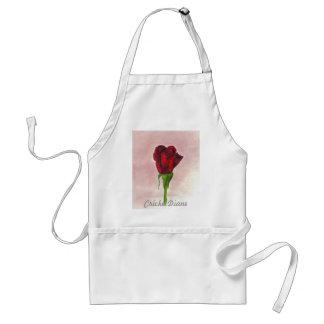 CricketDiane Red Elegant Rose Standard Apron