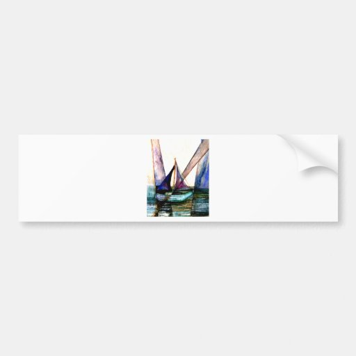 CricketDiane Sailboat Abstract 1 Sailing Bumper Stickers