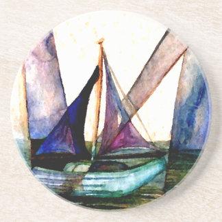CricketDiane Sailboat Abstract 1 Sailing Coaster