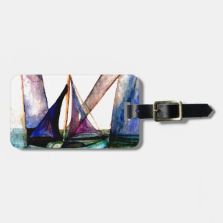 CricketDiane Sailboat Abstract 1 Sailing Luggage Tag