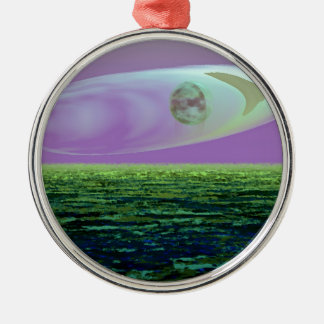CricketDiane SciFi Art Strange Land World Birth Silver-Colored Round Decoration