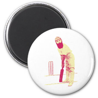 cricketer vintage 6 cm round magnet