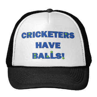Cricketers Have Balls Tees and Gifts Hats