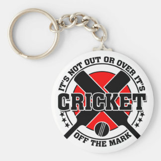 Cricketer's Off The Mark Cricket Key Ring