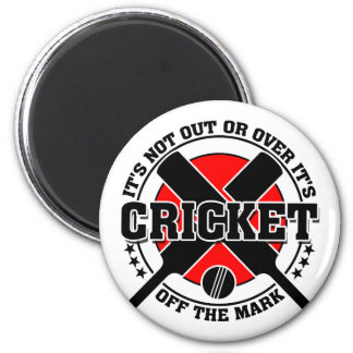 Cricketer's - Off The Mark Cricket Magnet