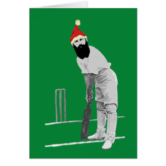 Cricketing Christmas Card