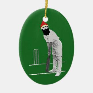 Cricketing Christmas Ornament