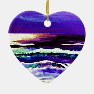 Cricket's Night Ocean Moonlight Ocean Waves Christmas Ornament