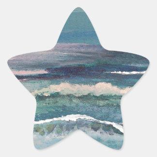 Cricket's Ocean - Beach Seascape Star Sticker