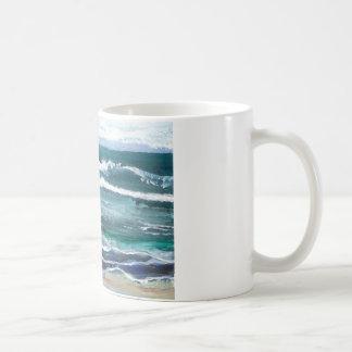 Cricket's Sea - Ocean Waves Beach Gifts Basic White Mug
