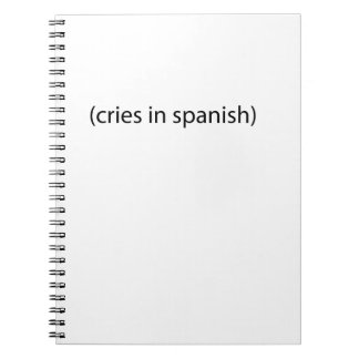 cries in spanish notebook