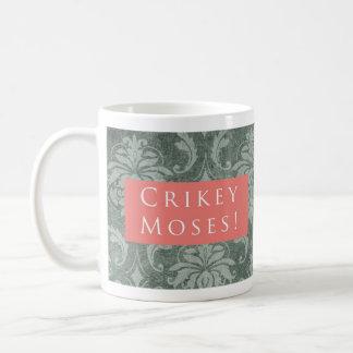 Crikey Moses! Pattern Pink Coffee Mug