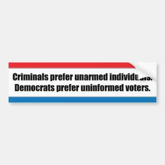Crime And Politics Bumper Sticker
