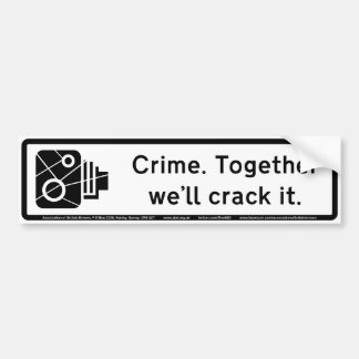 Crime Bumper Sticker