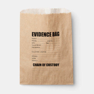 Crime Evidence Bag Favour Bags
