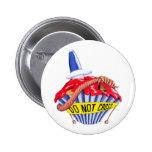 Crime Scene Cupcake Button