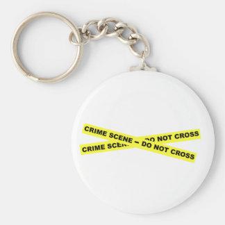 Crime Scene - Do Not Cross Basic Round Button Key Ring