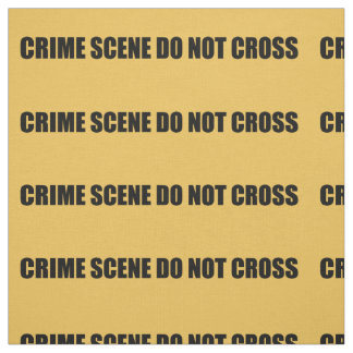 Crime Scene Do Not Cross Novelty Fabric