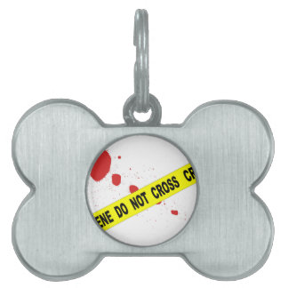 Crime Scene Do Not Cross Pet Name Tags