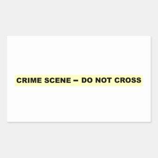 Crime Scene - Do Not Cross Rectangular Sticker