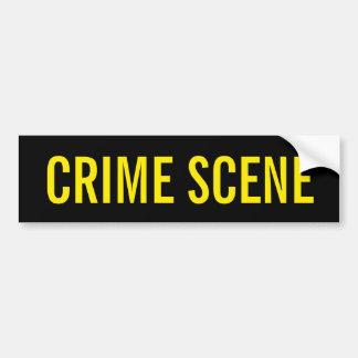 CRIME SCENE - Golden Yellow Logo Emblem Bumper Sticker