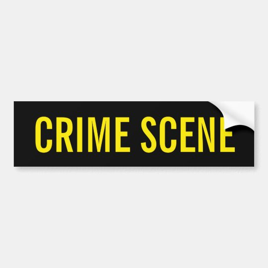CRIME SCENE - Golden Yellow Logo Emblem Bumper Sticker