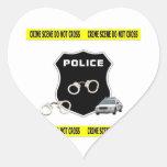 Crime Scene Heart Sticker