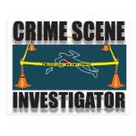 CRIME SCENE INVESTIGATOR POST CARD