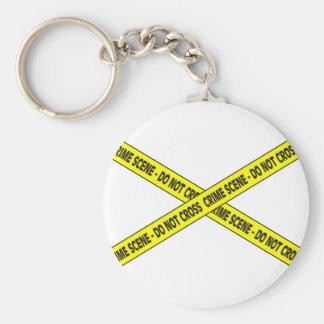 Crime Scene Basic Round Button Key Ring