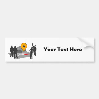 Crime Scene Map with Police and Body Outline Bumper Sticker