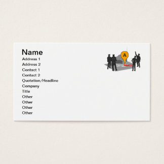 Crime Scene Map with Police and Body Outline Business Card