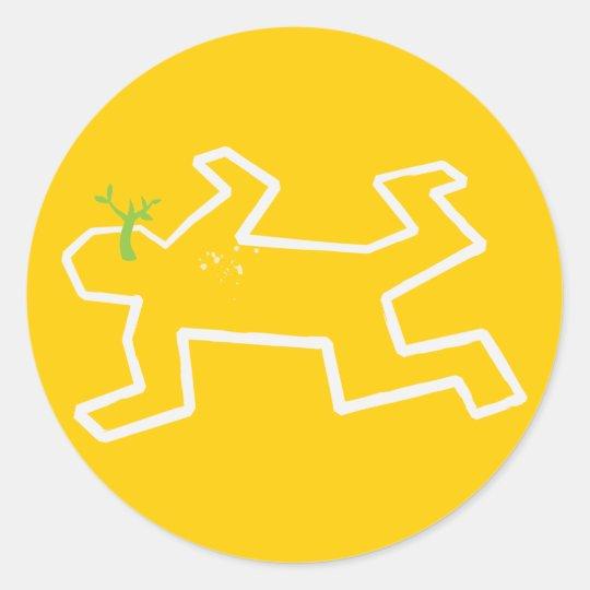 Crime Scene Round Sticker