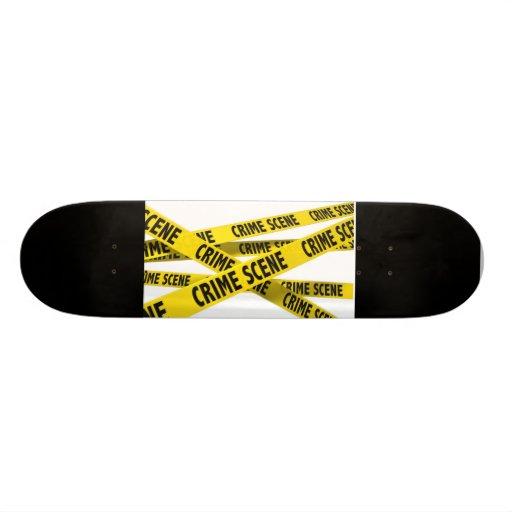 Crime scene skateboard decks