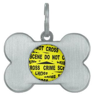 Crime Scene Tape Pet ID Tag