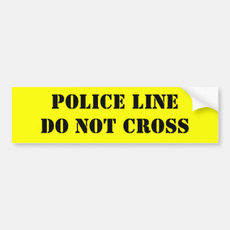 """Crime Scene""  Theresa Hartman Bumper Sticker"