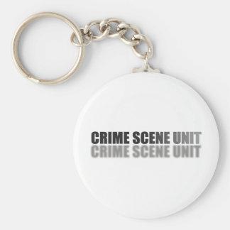CRIME SCENE UNIT BASIC ROUND BUTTON KEY RING