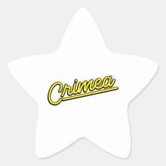 Crimea in yellow sticker