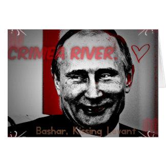Crimea River Putin Image Greeting Card