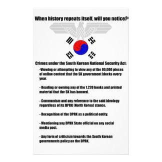 Crimes under South Korean National Security Act 14 Cm X 21.5 Cm Flyer