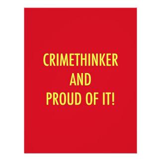 crimethinker and proud of it full color flyer
