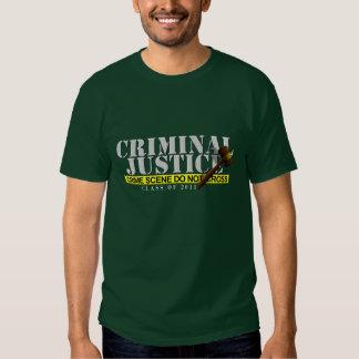 """Criminal Justice """"class of 2011"""" Shirt"""