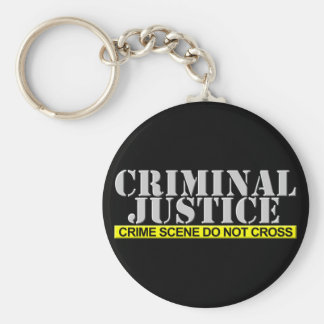 Criminal Justice (Customizable) Basic Round Button Key Ring