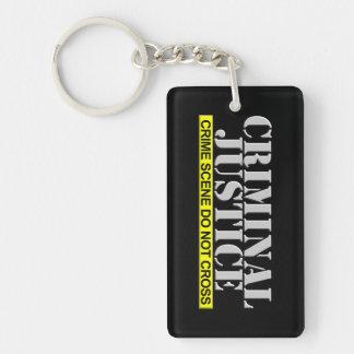 Criminal Justice (Customizable) Double-Sided Rectangular Acrylic Key Ring